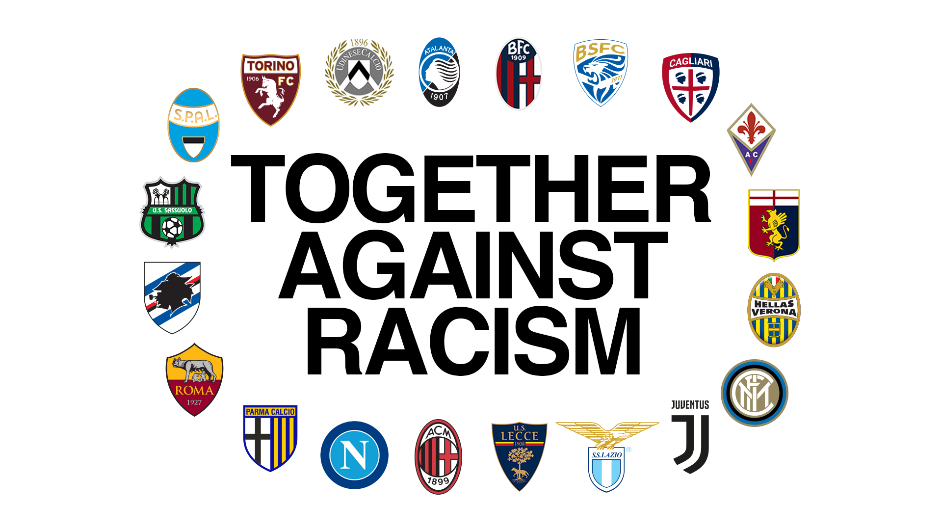 Serie A Against Racism Graphic EN